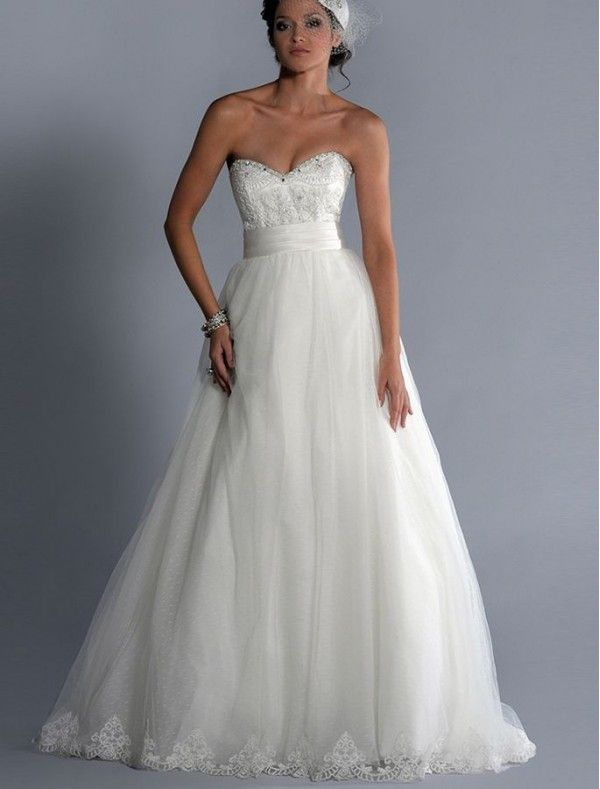 Detachable Skirt Wedding Dresses 2 In 1 Gowns Sweetheart Neckline 600x789