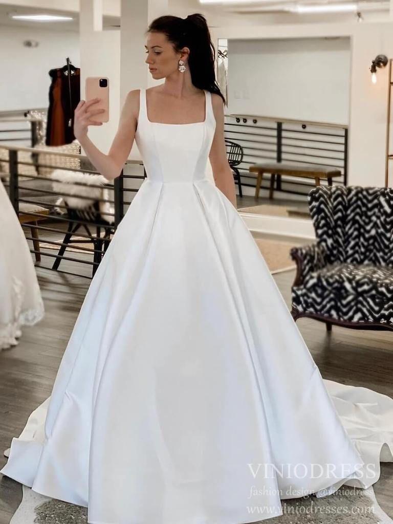 40+ Square neckline wedding dress pinterest ideas in 2021