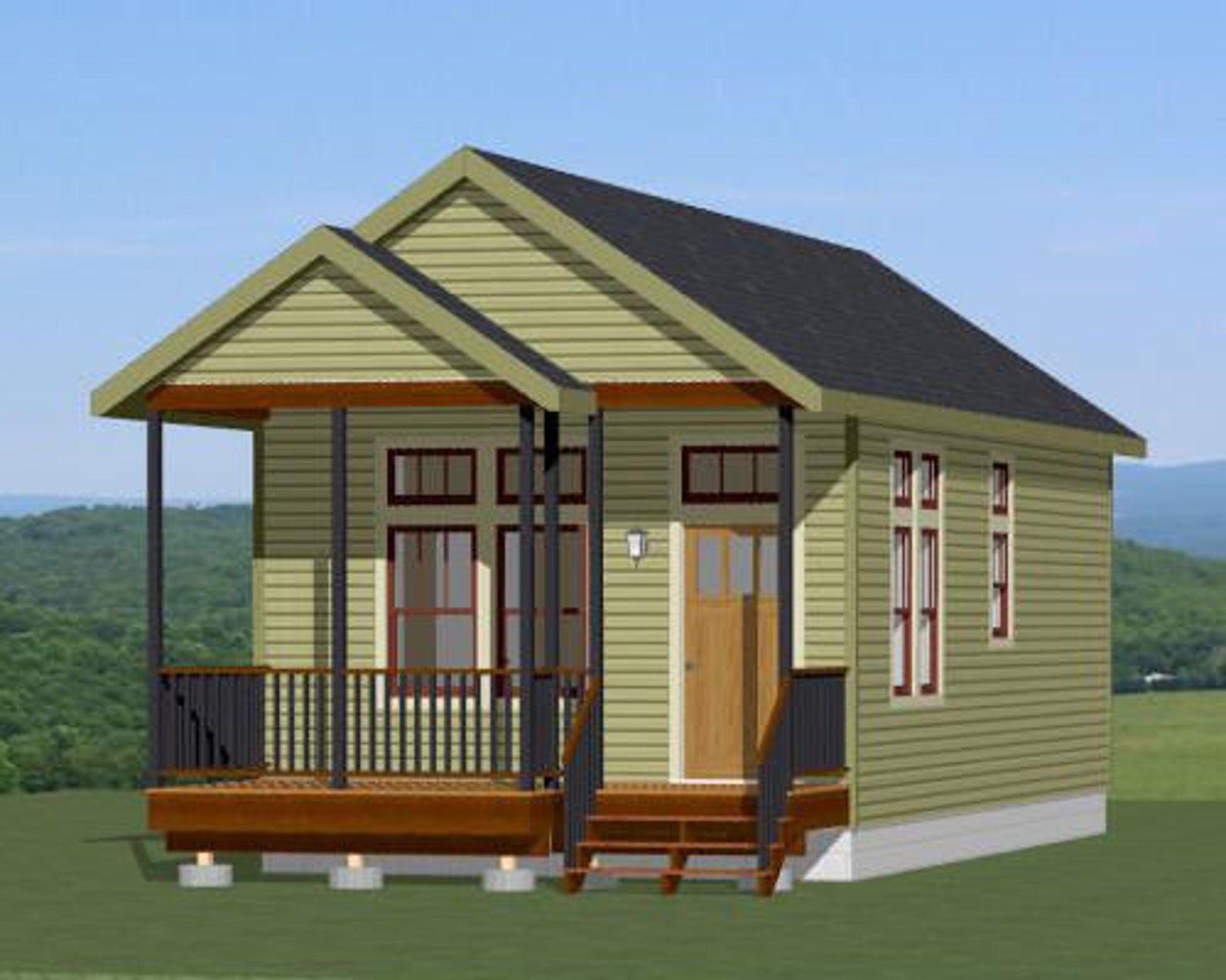 16x32 House 1 Bedroom 1 Bath 511 sq ft PDF Floor Plan Instant Download Model 1D