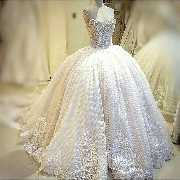 Haute couture wedding gowns like this can be made for less. Custom ...