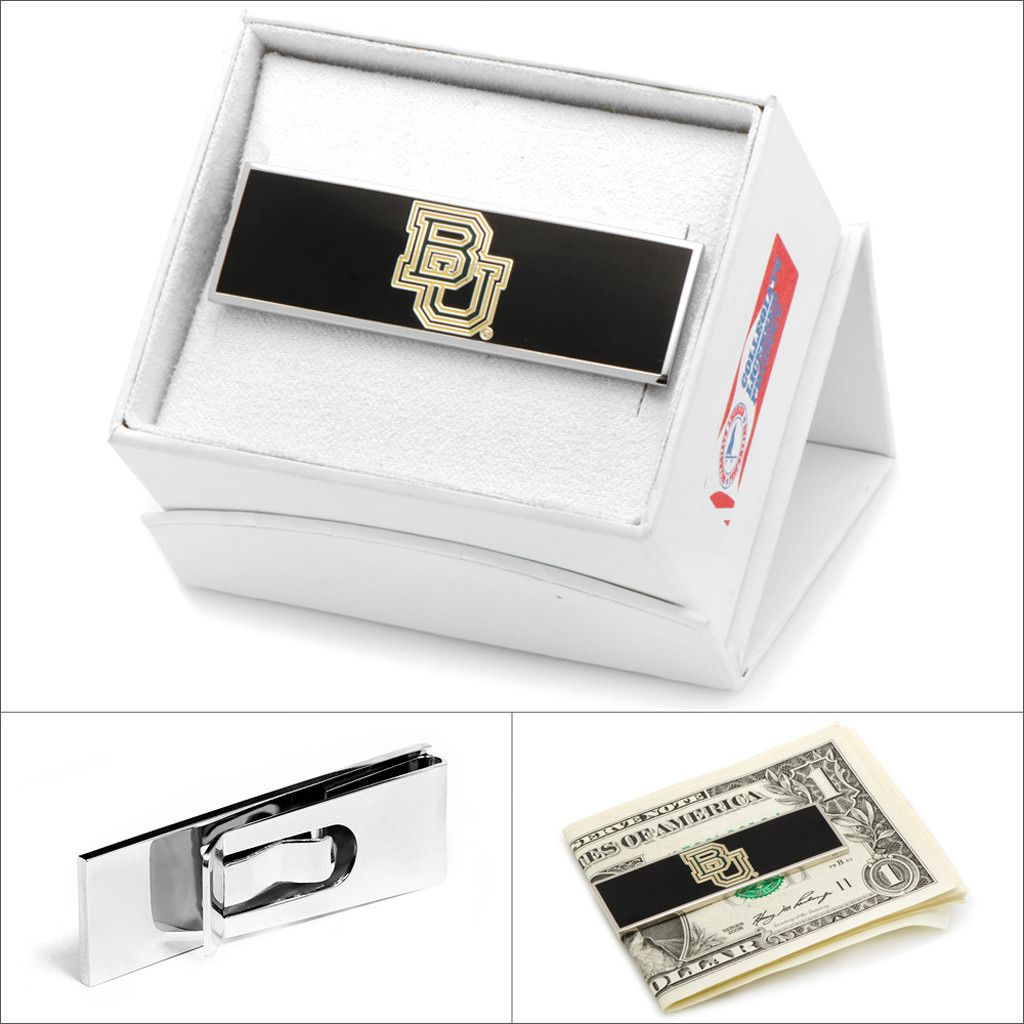 A finely tailored suit is one thing, but sometimes it's the small touches that prove to be the most memorable. This stylish money clip, featuring rhodium plate and enamel team logo, is made of forge steel to last for years. Reinforced clip back. A fabulous gift for an alumni or graduating student. Gift box included.