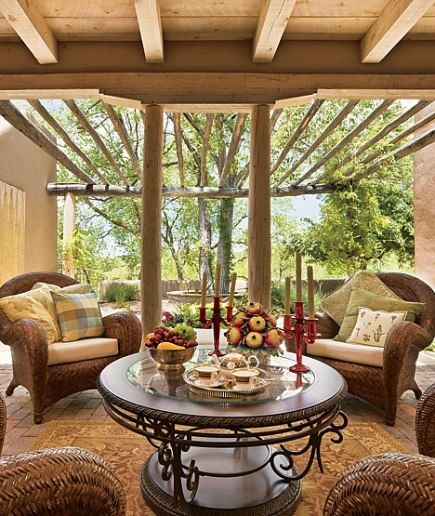 A Traditional Adobe Compound in Santa Fe Is Reimagined as a LightFilled Oasis  Decoracion  Decoracin de unas Muebles de exterior Muebles de