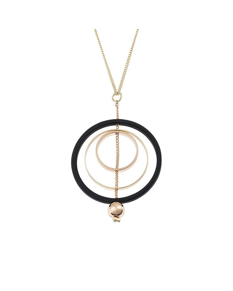 9adaffd5d Mimosa Black Circle Pendant Necklace in 2019 | Presents for e ...