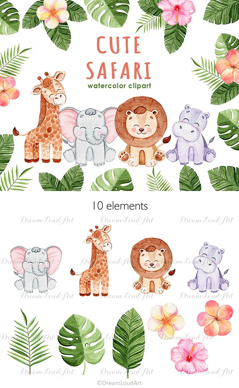 15+ Animals Clipart Watercolor Creation Story