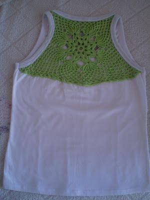91a5d9585 Camiseta customizada - crochê - Nana Nanda