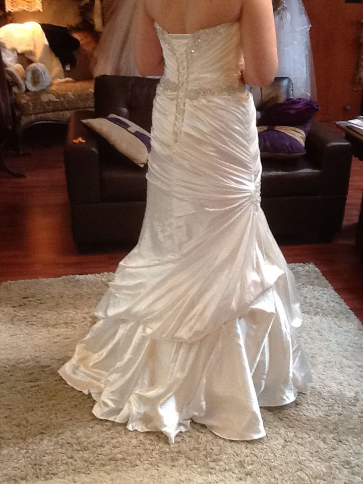 French Bustle Fit And Flare Wedding Gown Wedding Gown Bustle