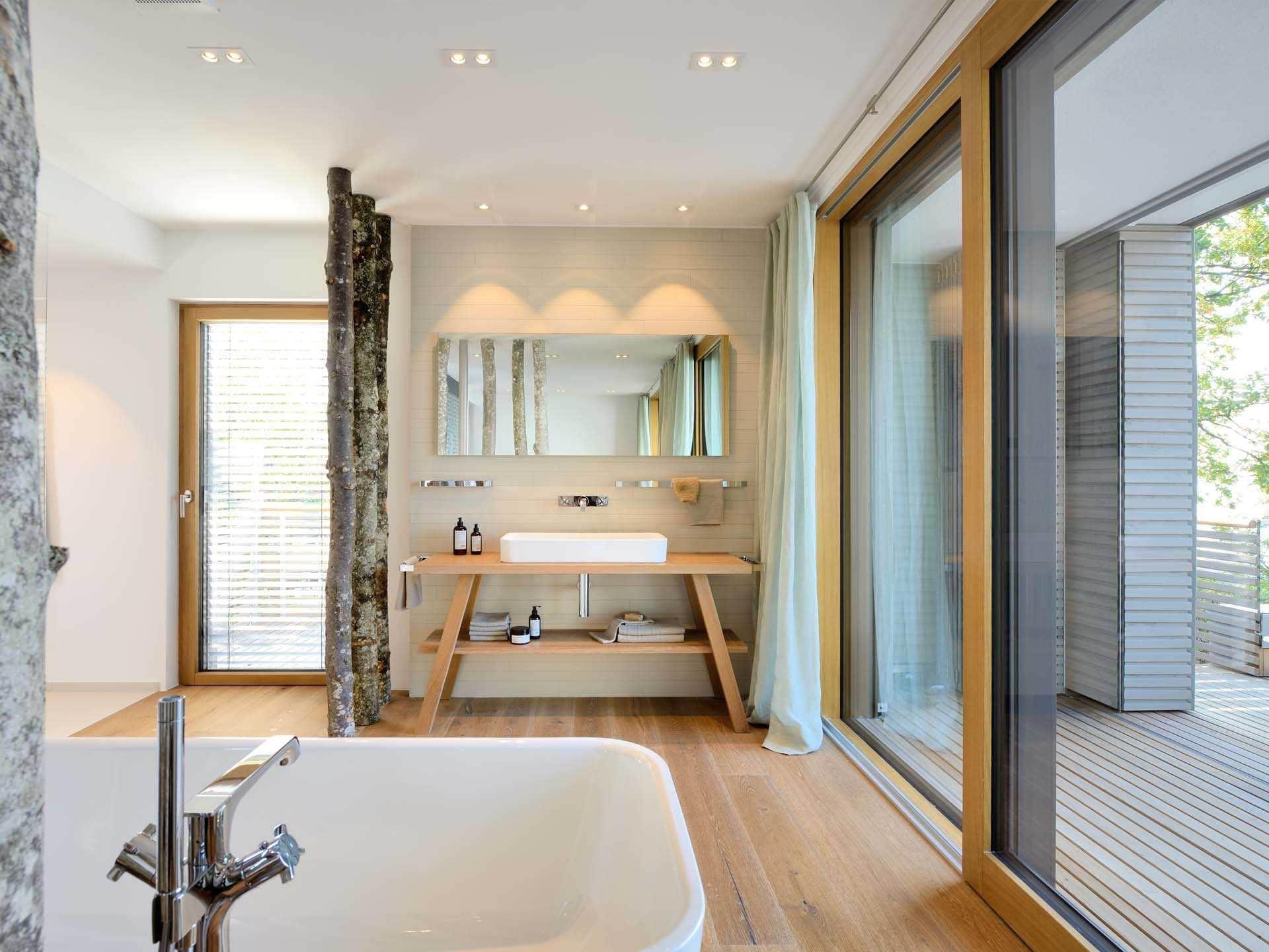 Musterhaus badezimmer  Baufritz Musterhaus Haus am See Ansicht Badezimmer | Haus Pläne ...
