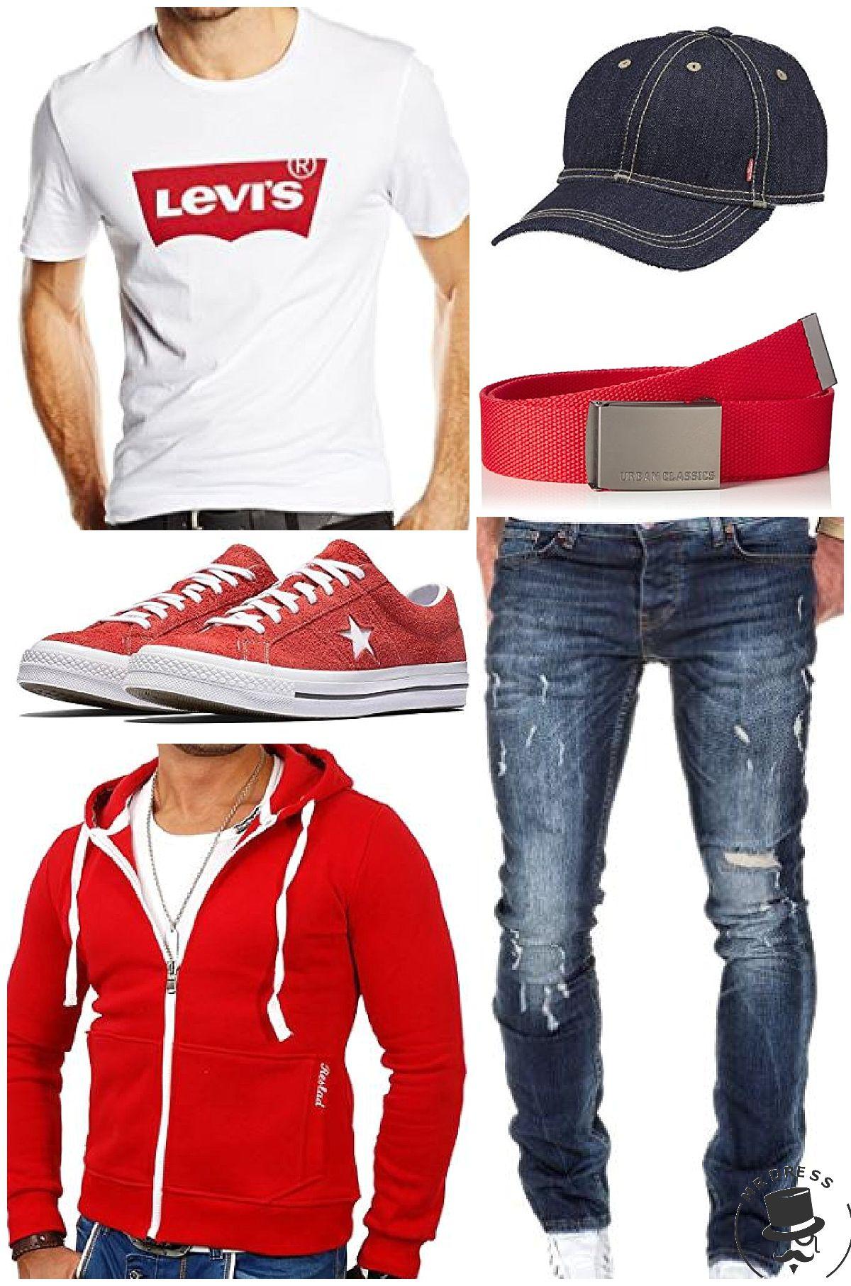hot sale online da227 e7a9c Rot Weiß Levis Look! Levi's Herren T-Shirt ,Reslad Herren ...
