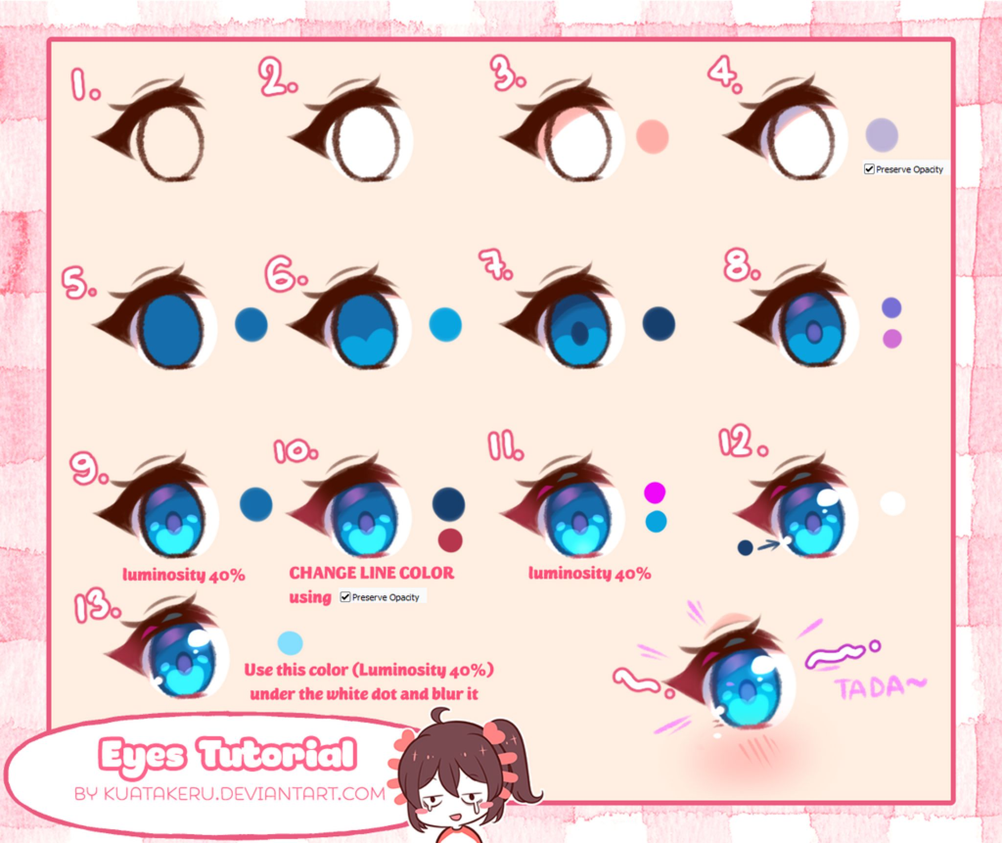 Tutorial Eyes Coloring By K U A On Deviantart Anime Eye