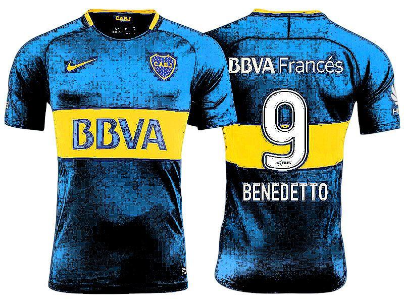 new arrival bbc0e 7a6e0 Boca Juniors Jersey Shirt For Cheap dario benedetto Third 17 ...