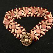 Beading tutorial and pattern jewelry set Ginko pattern Beaded bracelet  earrings pattern  Beading tutorial and pattern jewelry set Ginko pattern Beaded bracelet  earrings...