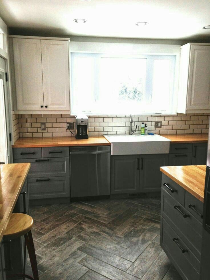 Ikea Kitchen Remodel Cost Aide Blender I Like Top Cabinet Different Color Than Lower Ones Trendy Grey