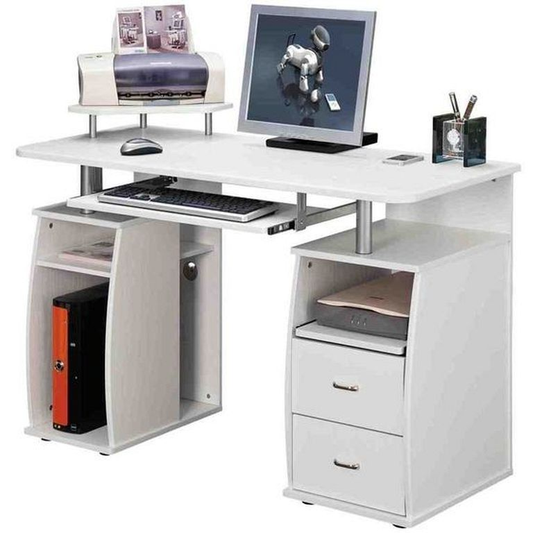 21 Top Modern Computer Desk Designs In White Color Computer