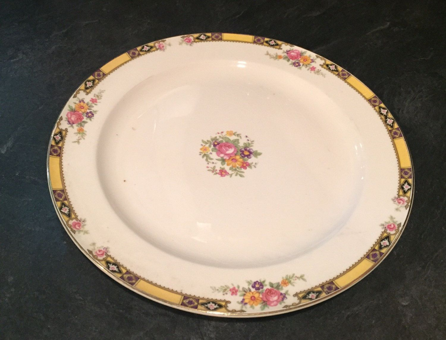 Luncheon Plate 9 inch Edwin M. Knowles China Company Made in USA 41-3 & Luncheon Plate 9 inch Edwin M. Knowles China Company Made in USA 41 ...