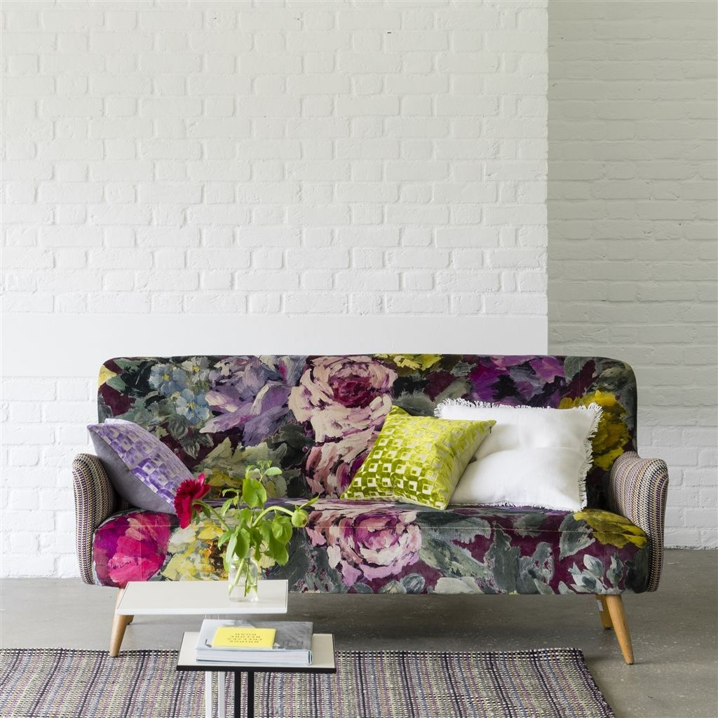 bloomsbury rose - damson fabric | Designers Guild | For the Home ...