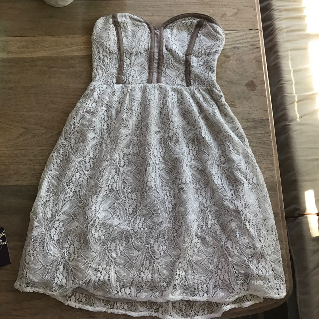 Cream Colored Lace Dress From Urban Outfitters