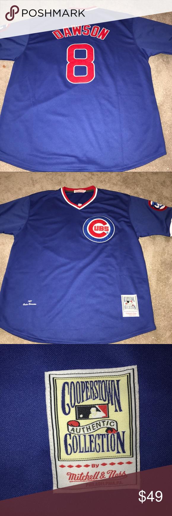 e7ef8259c Chicago Cubs Andre Dawson 1987 Throwback jersey 2X Chicago Cubs 1987 Andre  Dawson Mitchell &