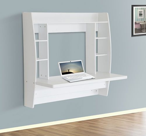 homcom floating wall mount office computer desk. HomCom-Floating-Wall-Mount-Office-Computer-Desk-Storage-White Homcom Floating Wall Mount Office Computer Desk I