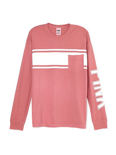 Campus Long Sleeve Tee - PINK - Victoria's Secret | vspink campus ...