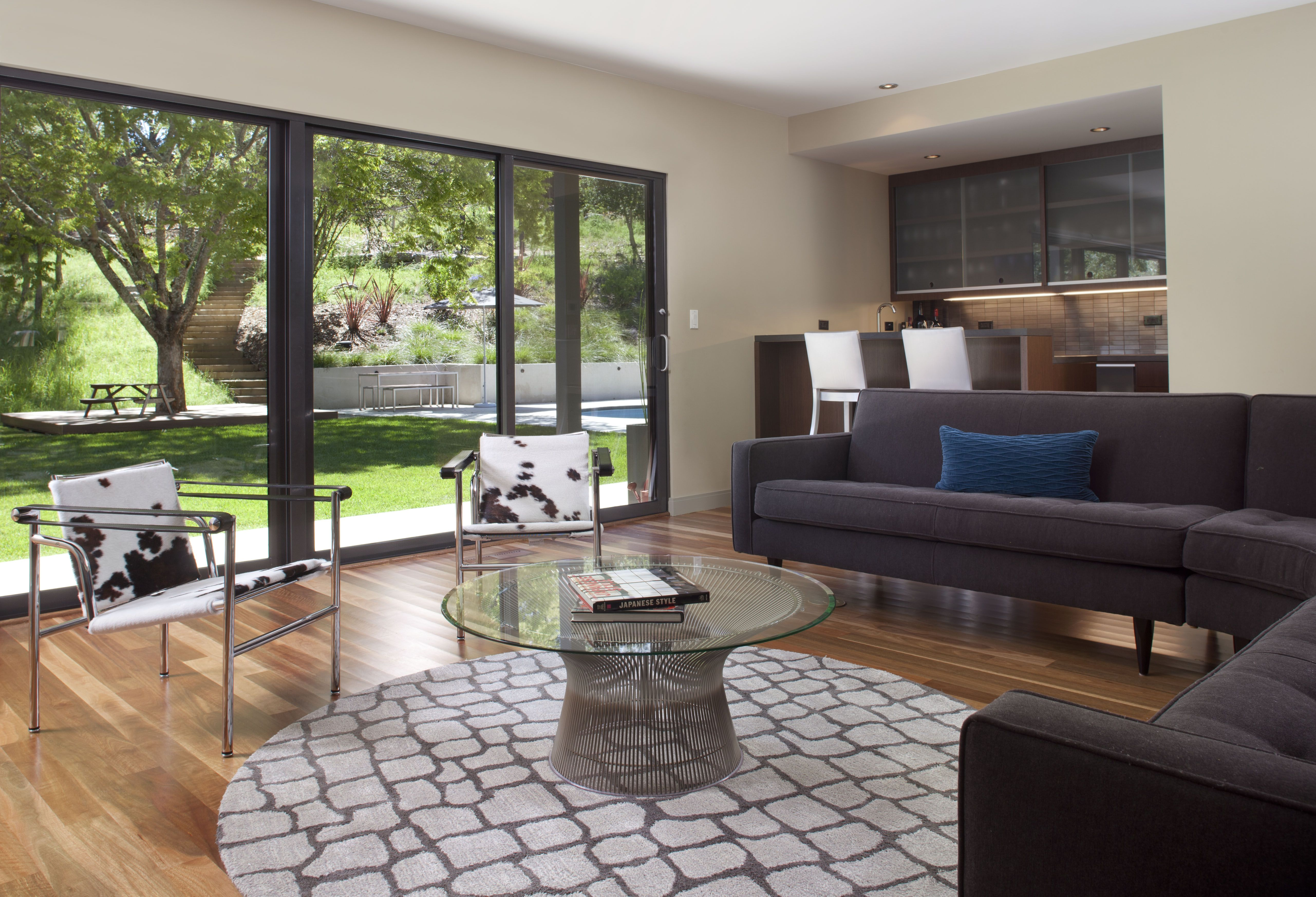 The Living Room Sliding Door Was Enlarged With A New Bonelli Aluminum Unit And A Wet Bar Was D Living Room Sliding Doors Sliding Glass Door Living Room Designs