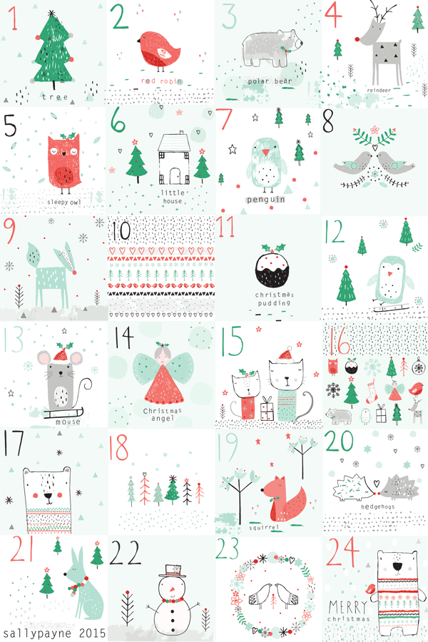 The advent illustrations day by day and together and a christmas ...