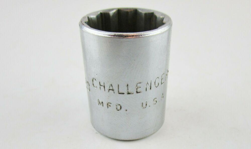 Challenger U S A 5 8 Socket 3 8 Drive 1220 12 Point Tool Challenger Sockets Mechanic Tools Tools