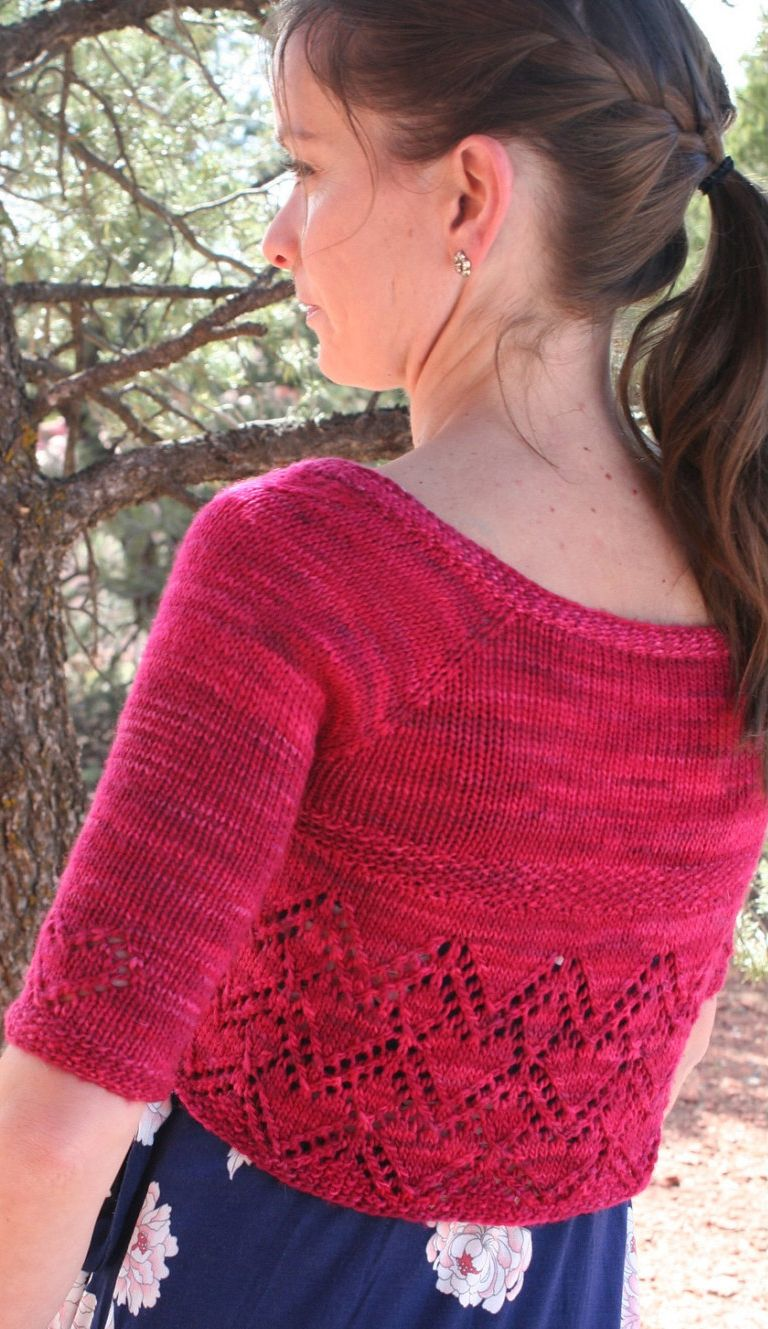 Knitting pattern for cropped cardigan with heart lace - #ad Helen ...