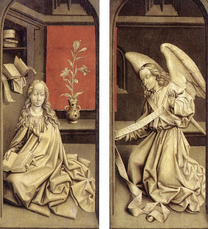 Rogier Van Der Weyden Bladelin Triptych (exterior), 1480. Oil on oak panel. Staatliche Museen, Berlin