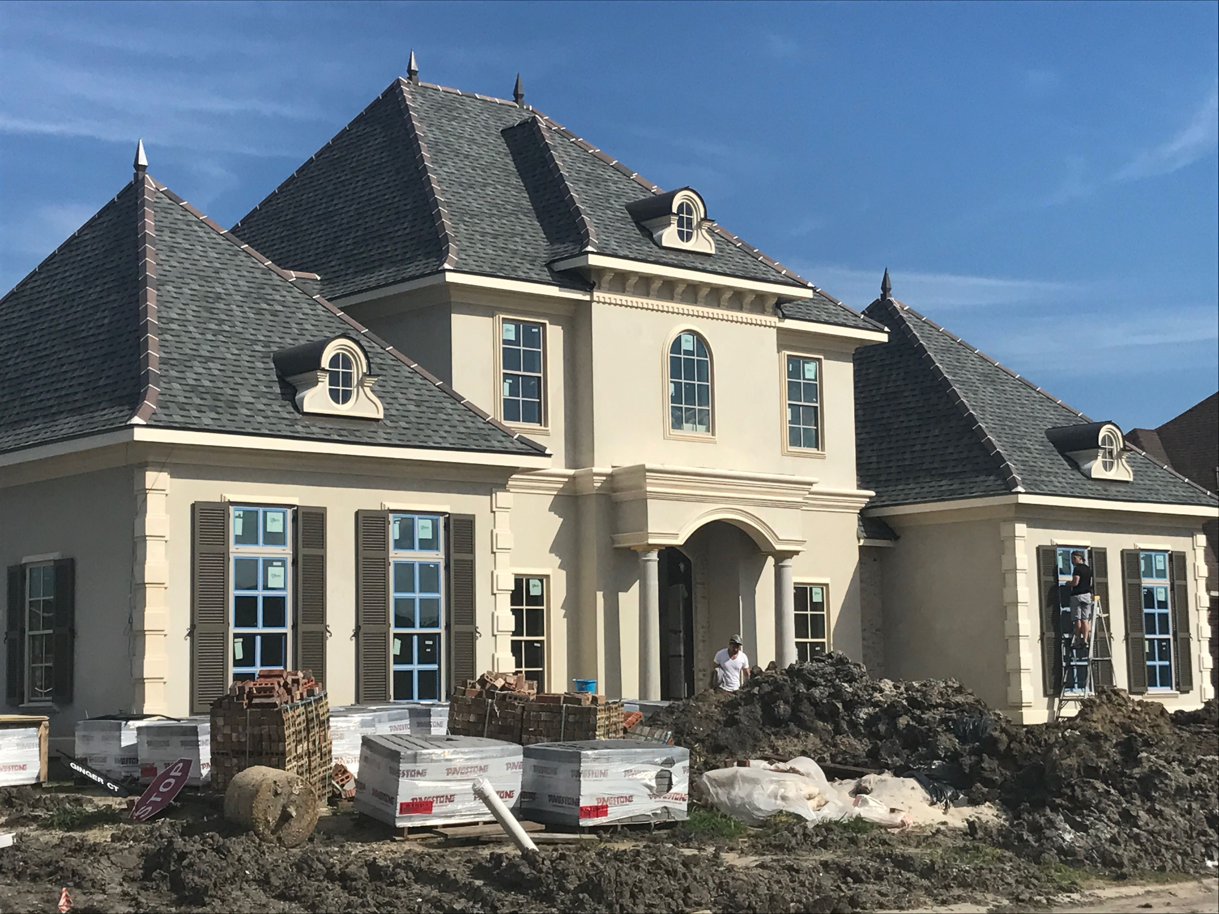 Quality roofing job begins before the shingles go on home remodeling - Roof Pinnacle Atlas Hearthstone Grey Shingles Ridge Tiles 2 Dark Brown 1 Black With