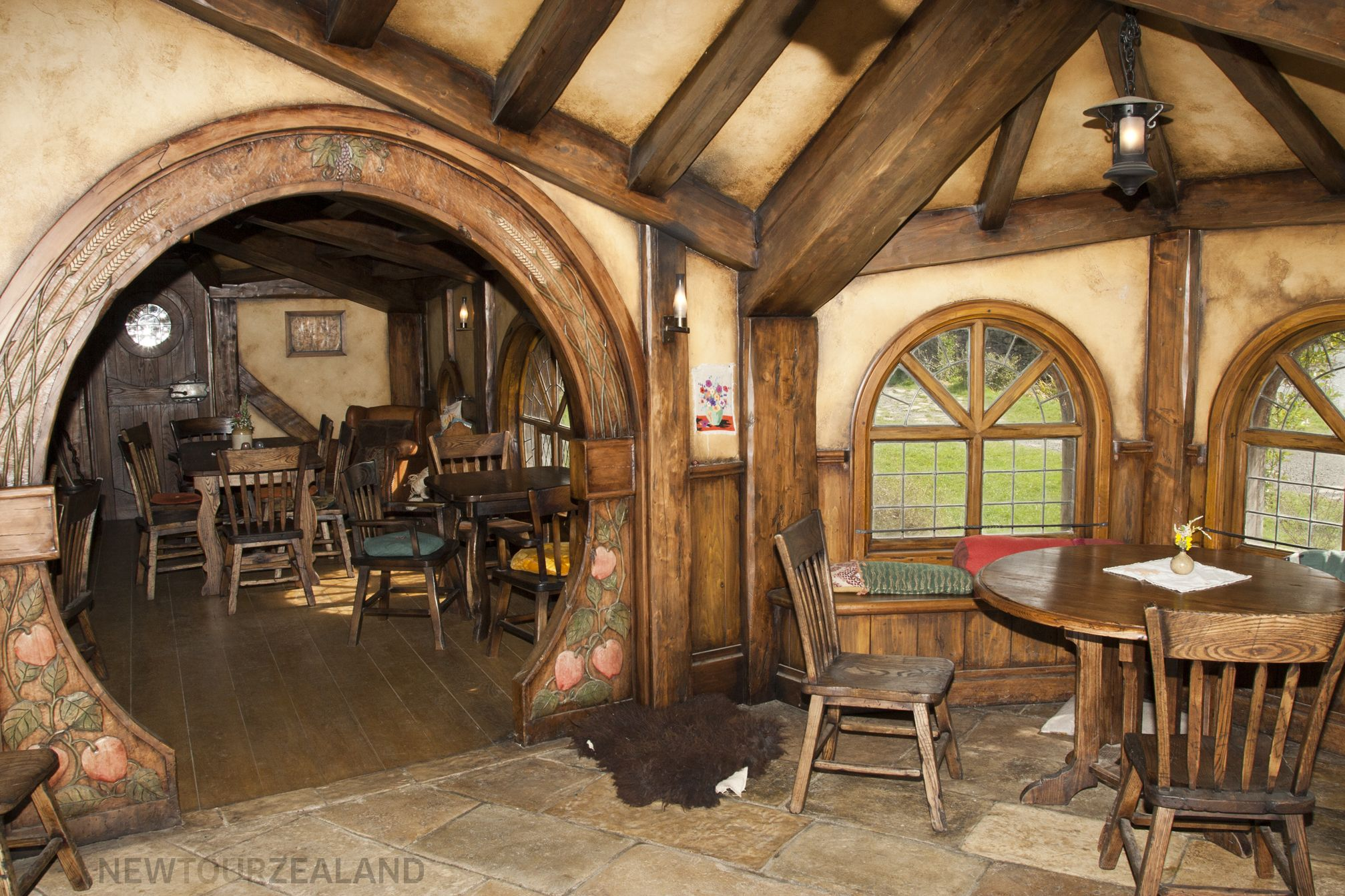Best real hobbit hole house at painting ideas wallummy Interior houses