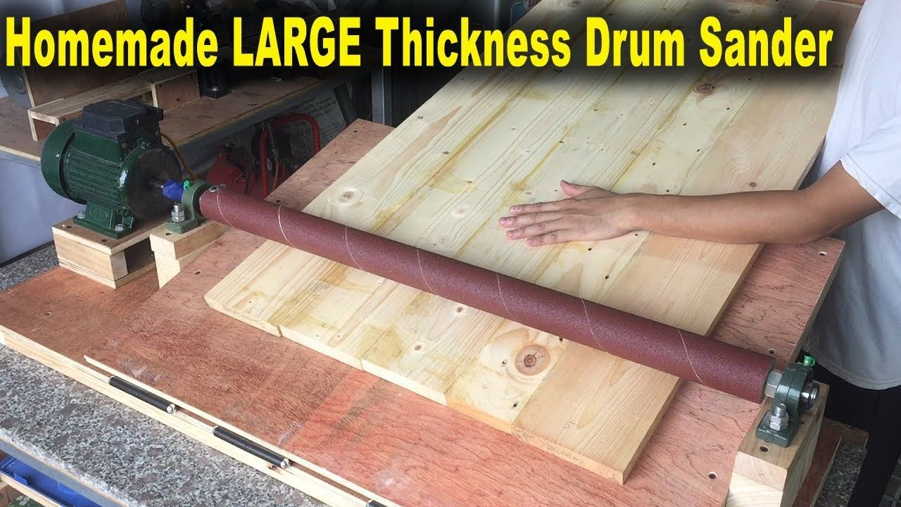 Homemade LARGE Thickness Drum Sander At Home (Width 800mm