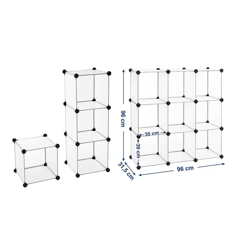 Songmics Regalsystem Cube Aufbewahrung Badregale Schuhregal Sideboa