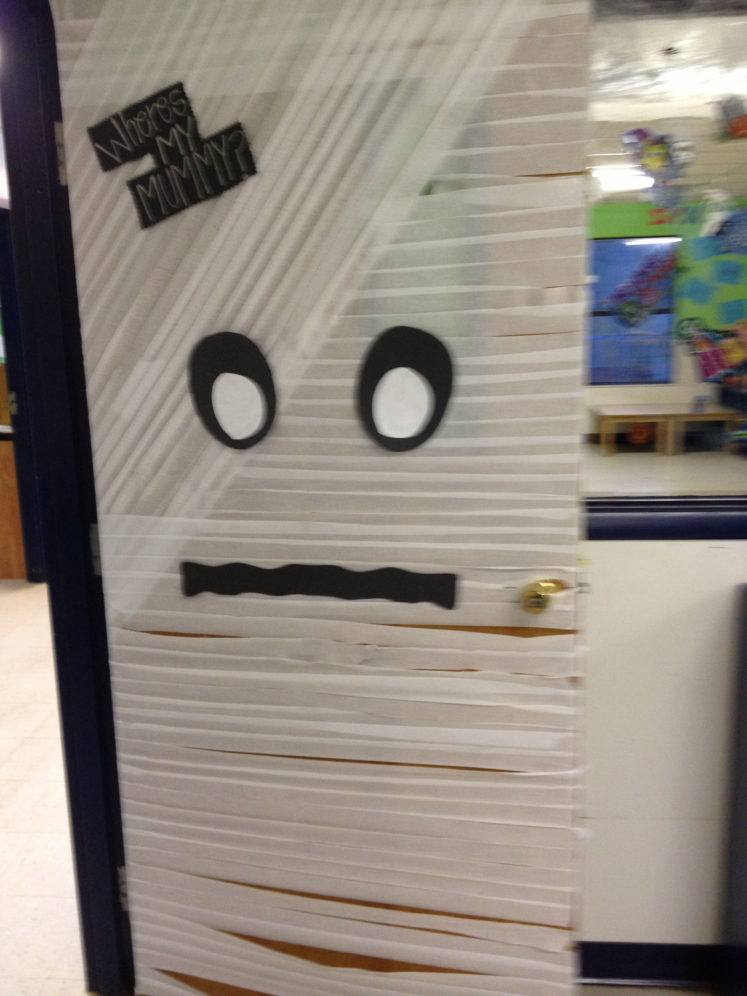 Where's my mummy? Halloween Classroom Door | Inspire to ...