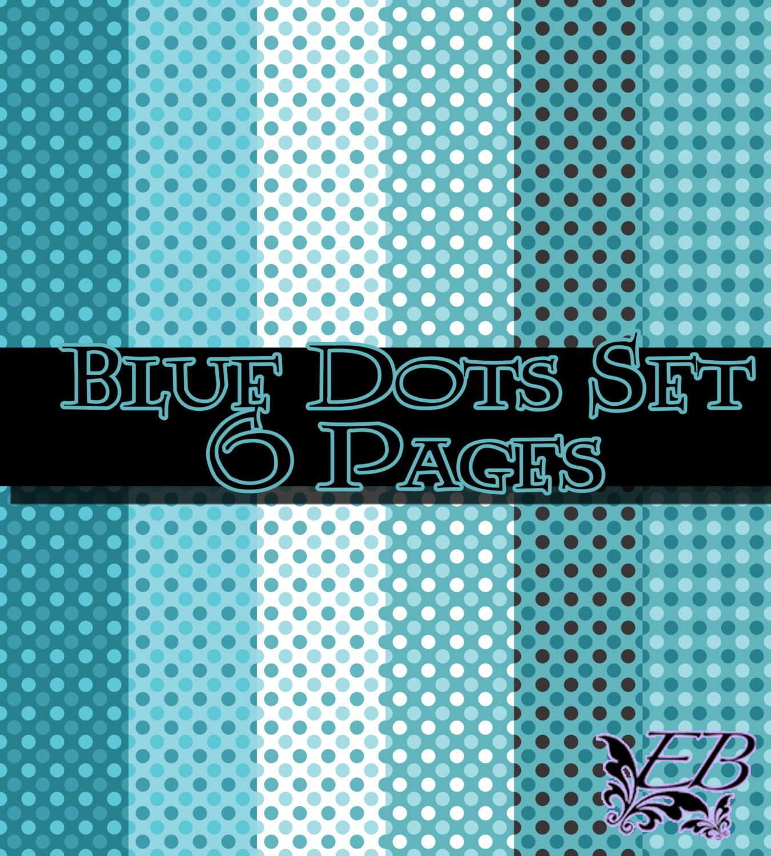 Scrapbook paper etsy - Dots Digital Scrapbook Paper Designs 12 Pages You Choose Two Color Schemes 5 00
