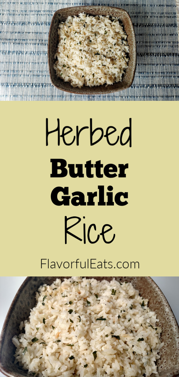 Herbed Butter Garlic Rice Herbed Butter Garlic Rice is an easy, savory side dish made with white rice, garlic, Italian parsley, and butter that comes together in less than 30 minutes. Perfect for your favorite saucy entrees! Butter Garlic Rice Herbed Butter Garlic Rice is an easy, savory side dish made with white rice, garlic, Italian parsley, and butter that comes together in less than 30 minutes.  Perfect for your favorite saucy entrees!Herbed Butter Garlic Rice is an easy, savory side dish made with white rice, garlic, Italian parsley, and butter that comes together in less than...
