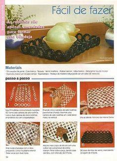 Artesanato Diversao E Prazer Reciclagem Com Jornal Artesanatos