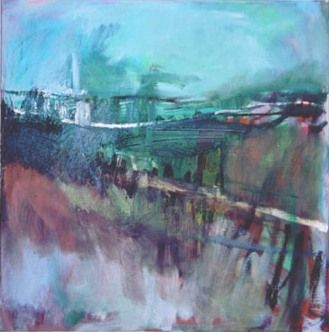Muddy Track To The Village Janine Baldwin Oil On Canvas 47 X