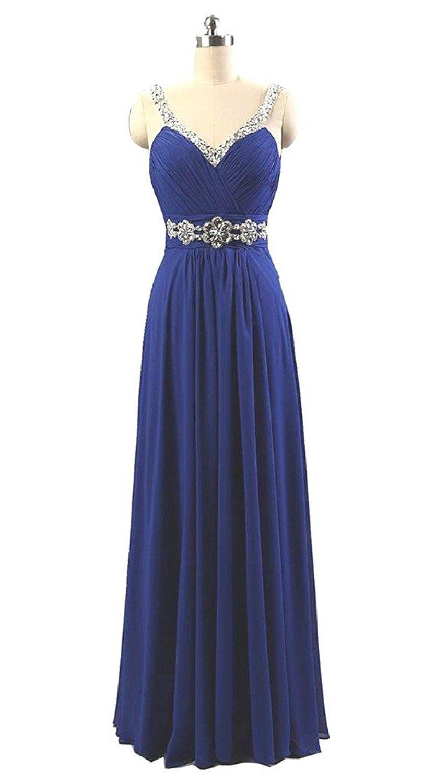Rohmbridal womenus rhinestone long formal evening prom dresses