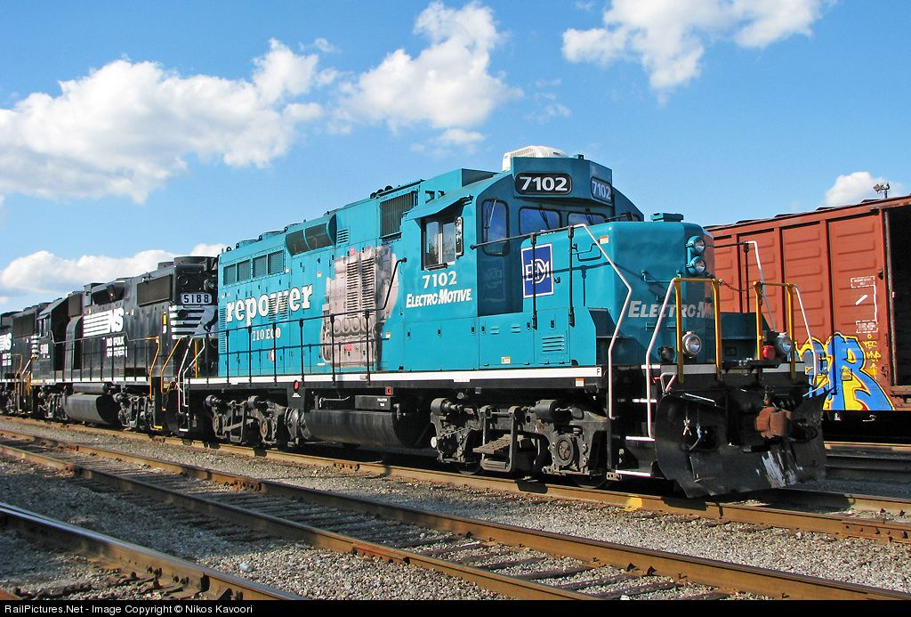 Its the former GP22ECO demonstrator, rebuilt from a CP GP9.