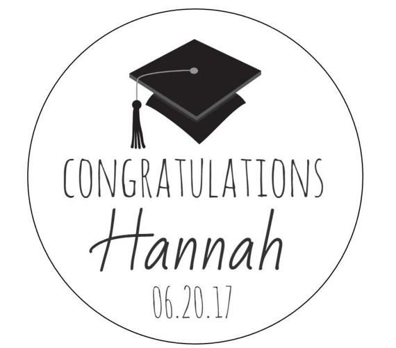 12 Congratulations Grad Stickers Class Of 2016 Cookie Stickers
