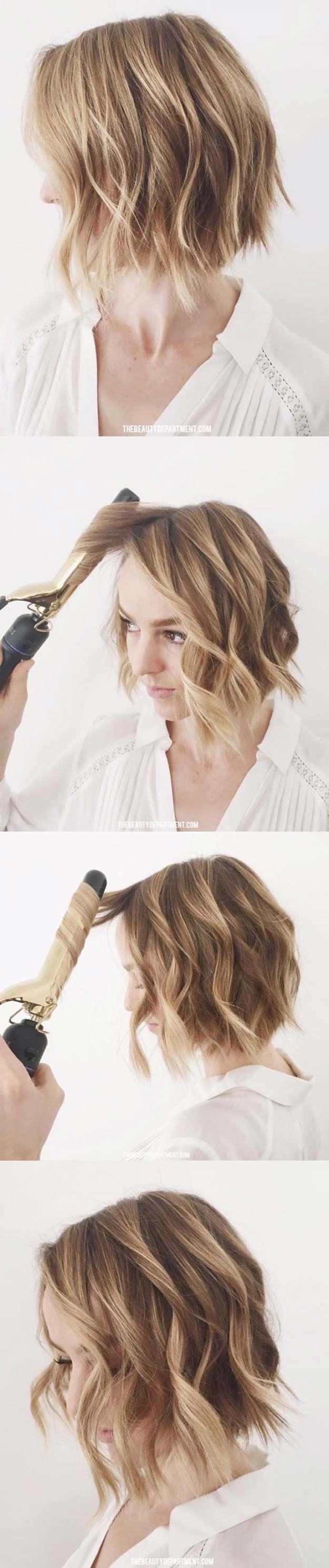 Beste Frisuren für die 60er  Flat Iron Wave Trick  Beste Frisuren für Frauen i...,  #60er #Be... #flatironwaves