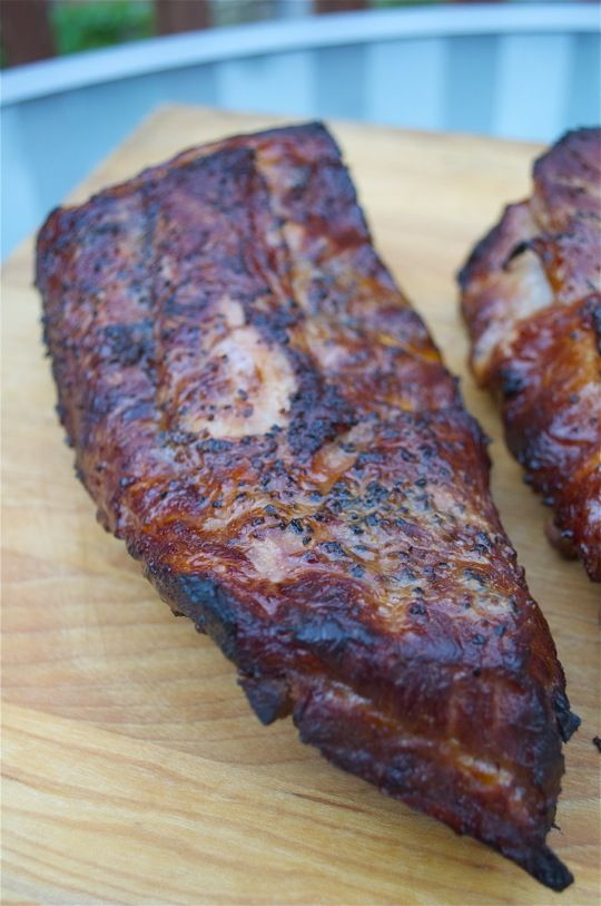 Ribs brined in sweet tea and smoked on the grill | Sweet Tea Ribs | https://grillinfools.com
