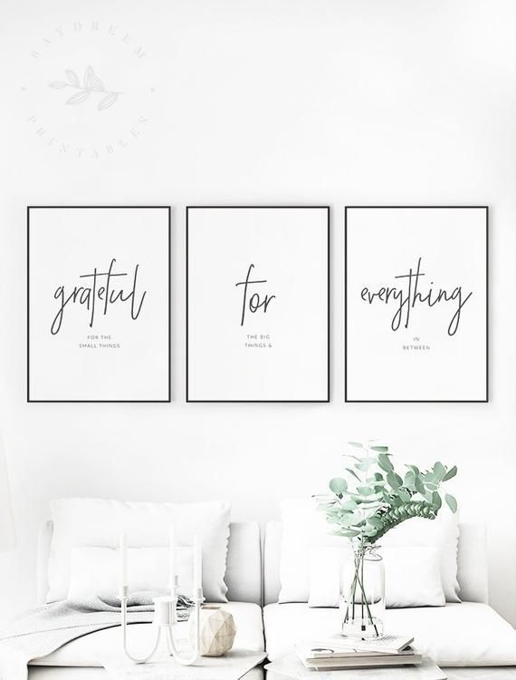Grateful For Everything Printable Quote Gratitude Quotes Etsy Dining Room Quotes Living Room Sets Printable Quotes