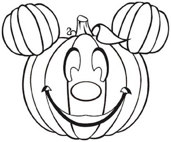 Pumpkins mickey mouse pumpkins coloring page
