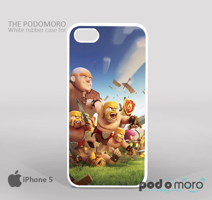 Blue Sky Clash Of Clans for iPhone 4/4S, iPhone 5/5S, iPhone 5c, iPhone 6, iPhone 6 Plus, iPod 4, iPod 5, Samsung Galaxy S3, Galaxy S4, Galaxy S5, Galaxy S6, Samsung Galaxy Note 3, Galaxy Note 4, Phone Case