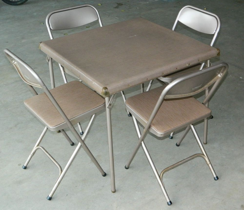 - Folding Card Table And Chairs Samsonite