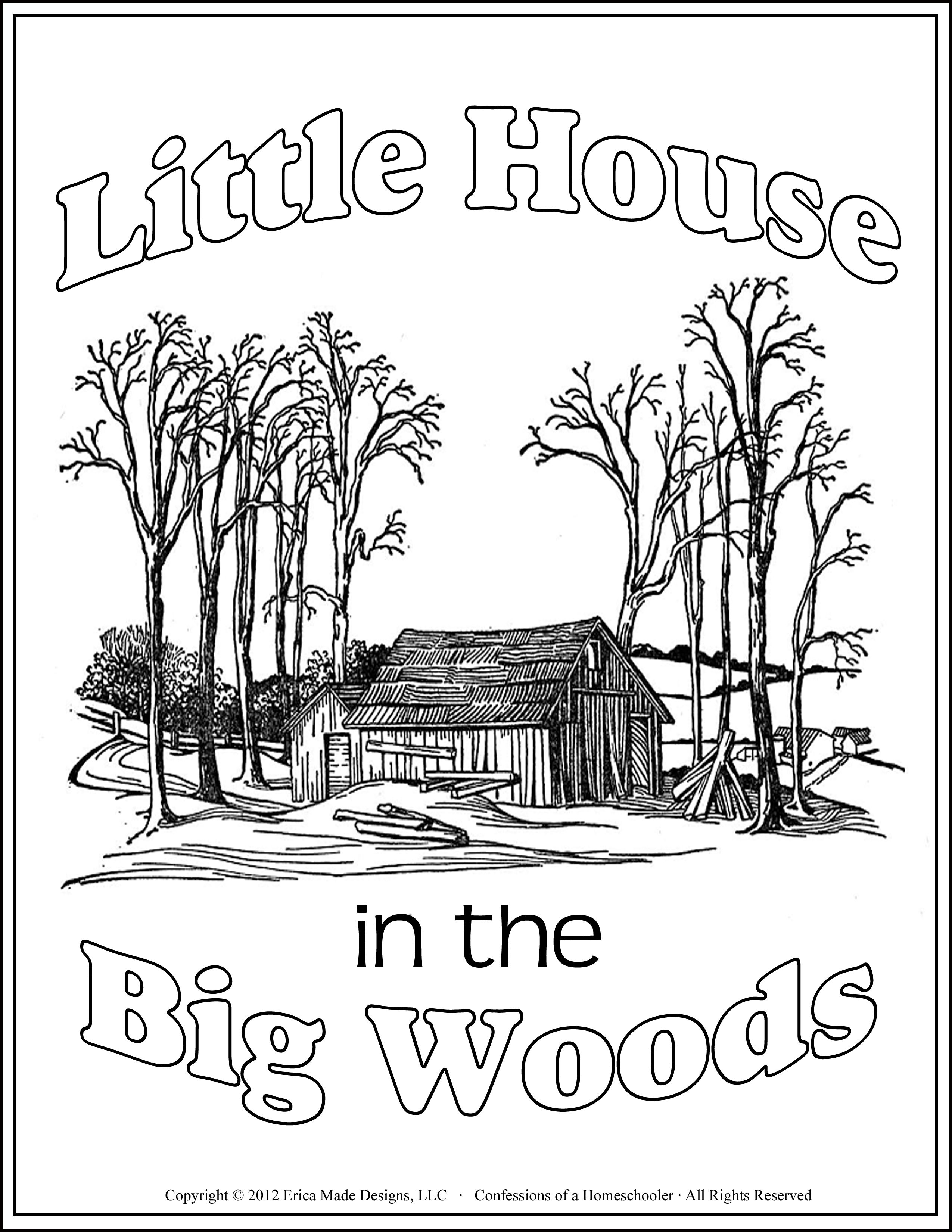 Little House In The Big Woods Unit Study Many More Literature