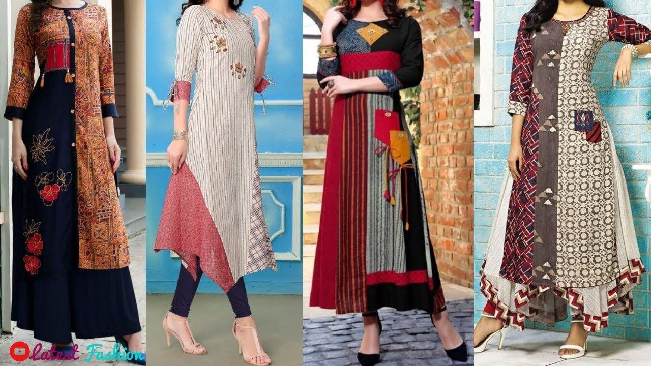 a916b27ca Top Beautiful Designer Kurta || Office Wear Long Kurti Designs || Kurti .