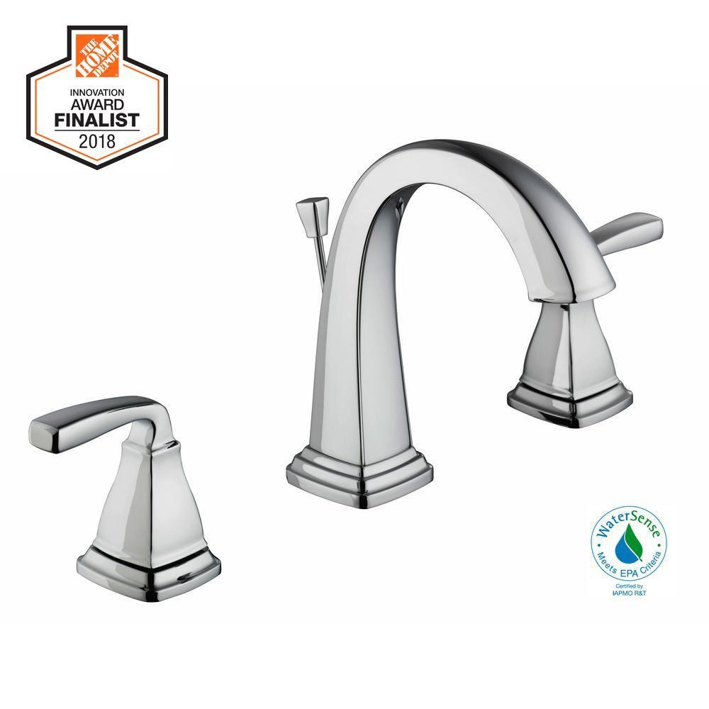 Glacier Bay Mason 8 In Widespread 2 Handle High Arc Bathroom Faucet In Chrome 67664w 6001 High Arc Bathroom Faucet Bathroom Faucets Faucet