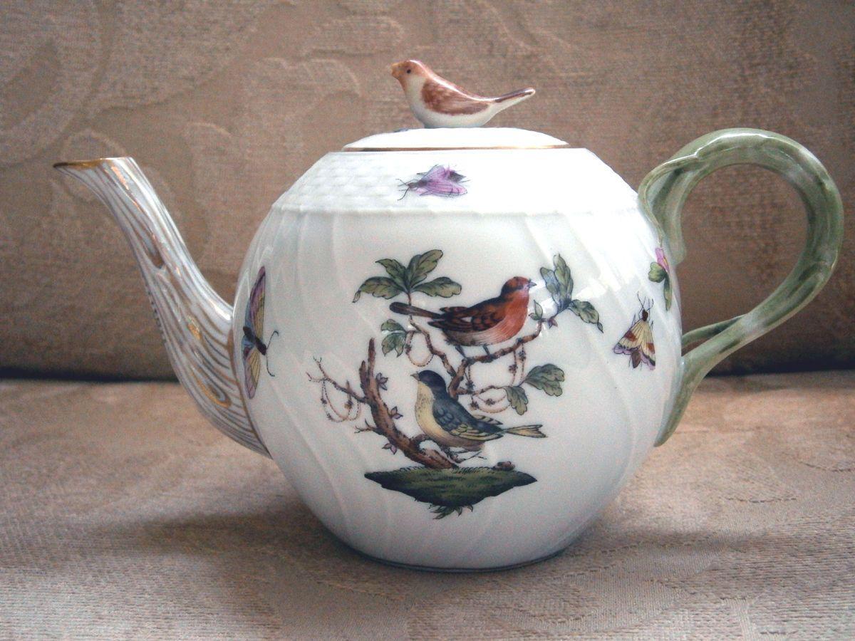 Royal albert bone china tea cup amp saucer winsome pattern ebay - Teacup Herend Teapot Rothschild Bird Pattern Small Size Old Mark 1915 1930 S Ebay